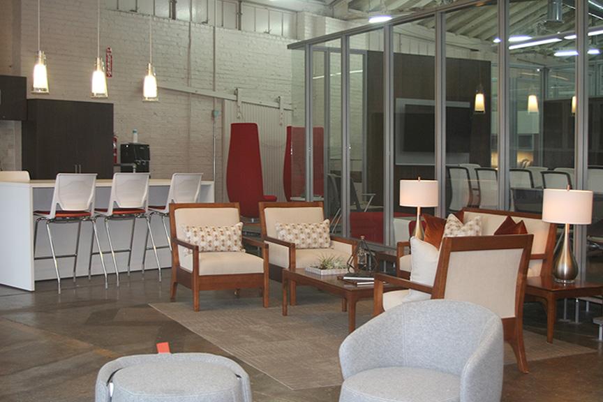 Innerspaice Birmingham interior lobby seating area