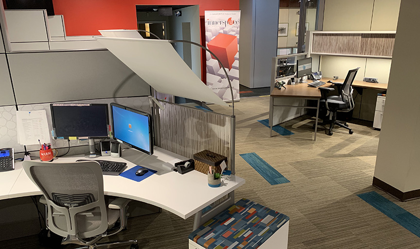 Innerspaice Mobile Showroom interior office space